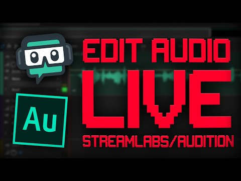 How To Process Your Audio For LIVE STREAMING!! | Adobe Audition / Streamlabs OBS