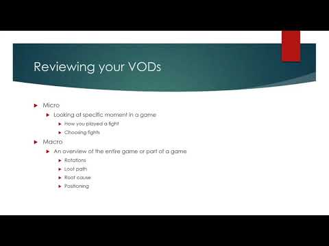 How to VOD review in Fortnite (The Basics)