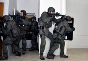 FBI Swatting a building