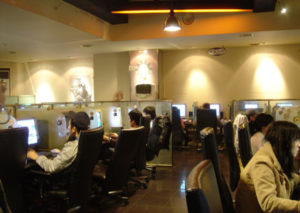 Inside a Taiwan Gaming cafe