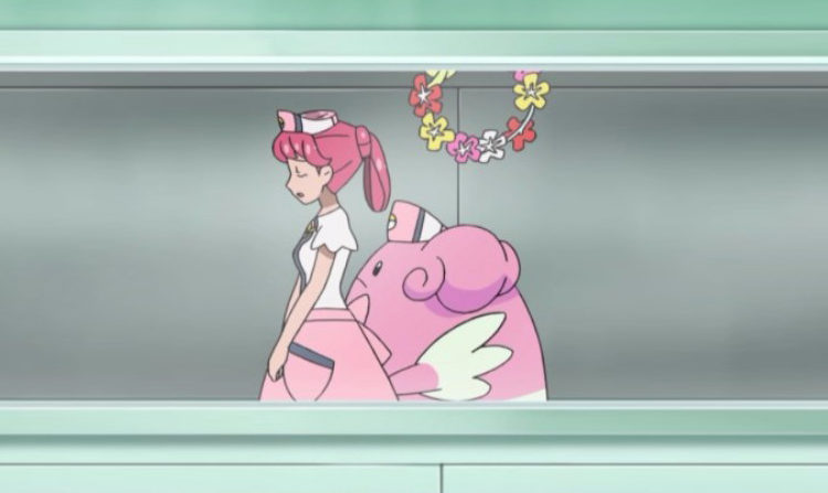 Pokemon animated cartoon series, Inside a Pokemon hospital with a nurse Joy
