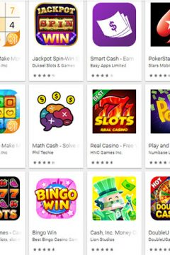 Google play store - games icons where you can win real money by playing