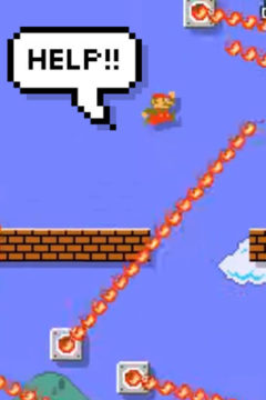 Stuck on a difficult level on mario