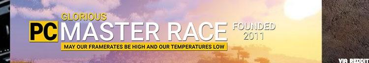 PC Master race banner