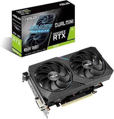 ASUS Dual NVIDIA GeForce RTX 2070 mini graphics card